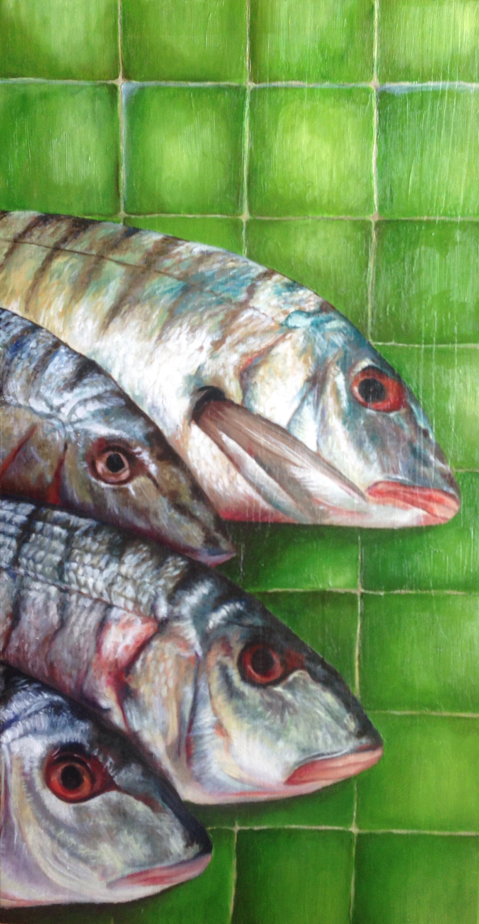 Vissen op tegels